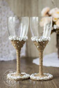 Best 25+ Decorated wine glasses ideas on Pinterest ...