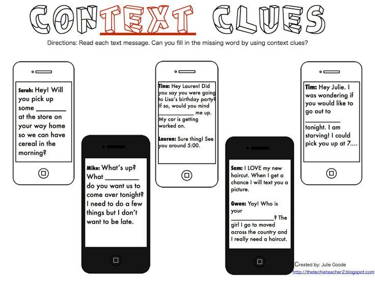 17 Best ideas about Context Clues Activity on Pinterest