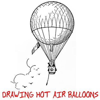 Step square hotairballoons Hot Air Balloon Drawing : How