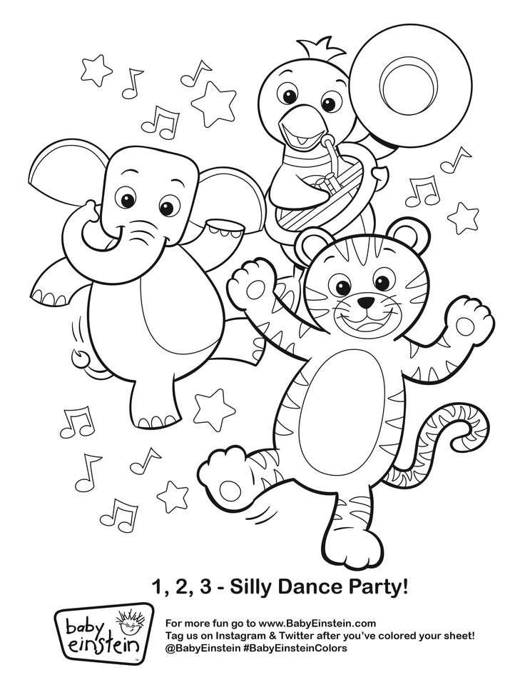 Baby Einstein Coloring Pages Sketch Coloring Page