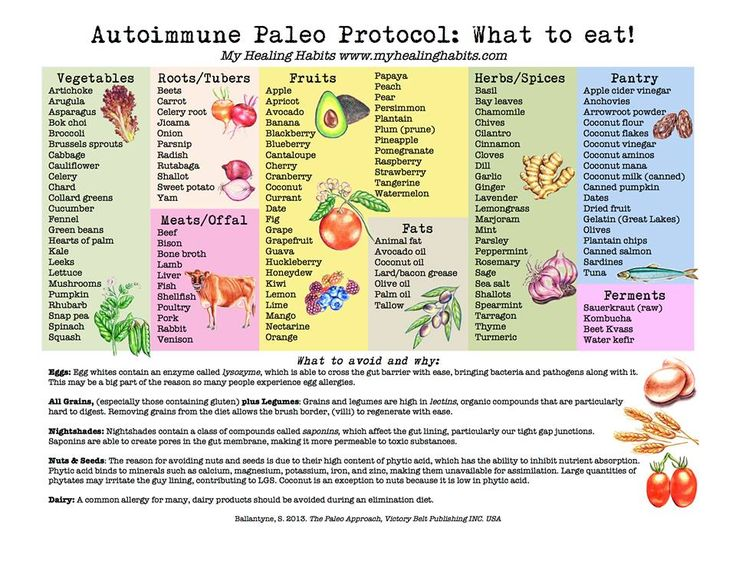 here is a list of autoimmune protocol friendly foods to include