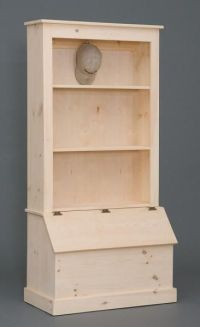 bookshelf and toybox, I would use the toy box for shoes ...