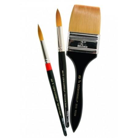 Loew Cornell Golden Taklon Brushes are long lasting