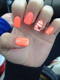 Orange acrylic nails | Manicures & Pedicures | Pinterest ...