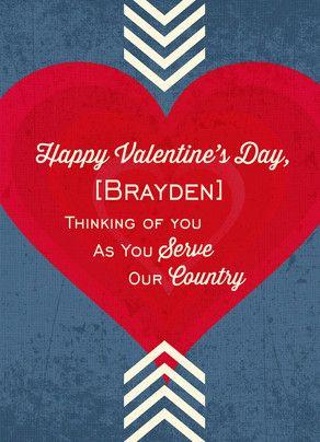 Patriotic Valentine Serving Valentine Day Cards