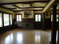 craftsman fireplace | Here's an example of a coffered ...