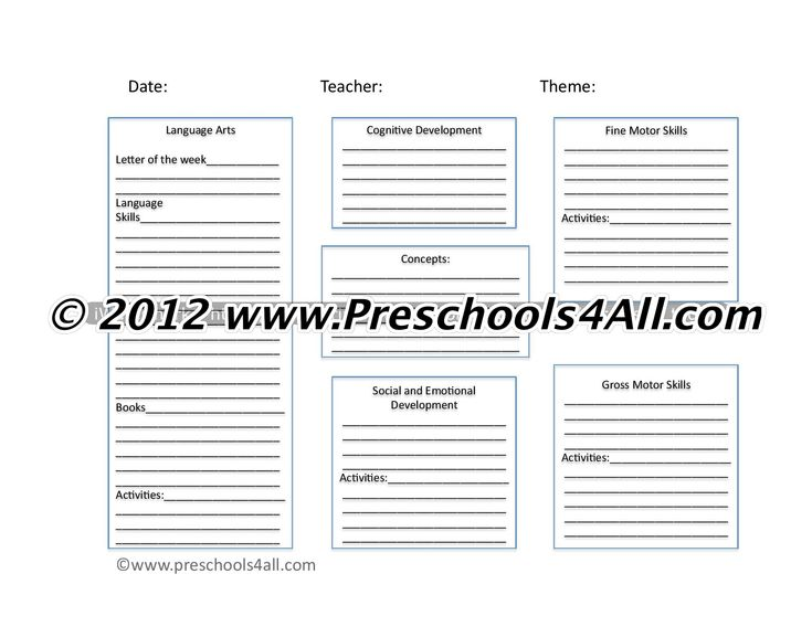 1000+ ideas about Preschool Lesson Plan Template on
