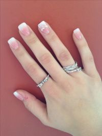25+ best ideas about French manicure with design on ...