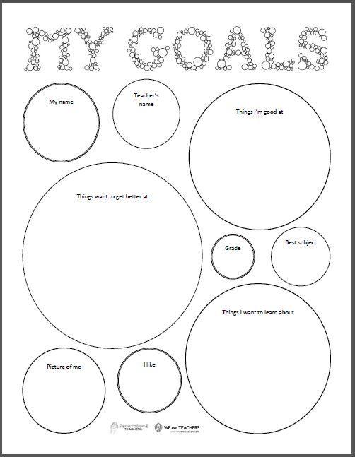 Squarehead Teachers: Goal setting sheet (FREEBIE) for