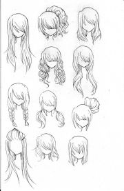 draw realistic hair character
