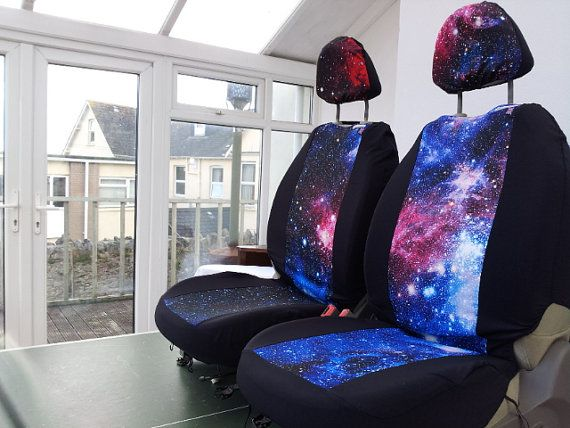 Galaxy Print Car Seat Covers Car Front Seat Covers Space