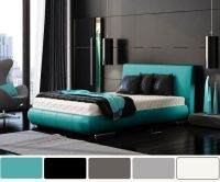 Turquoise and charcoal | Bedroom ideas | Pinterest | Grey ...