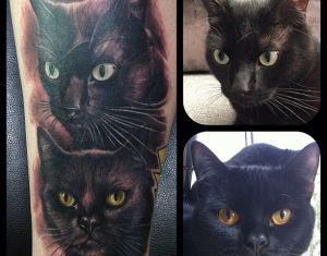 Cat Tattoo On Pinterest Cat Tattoos Cat Portrait