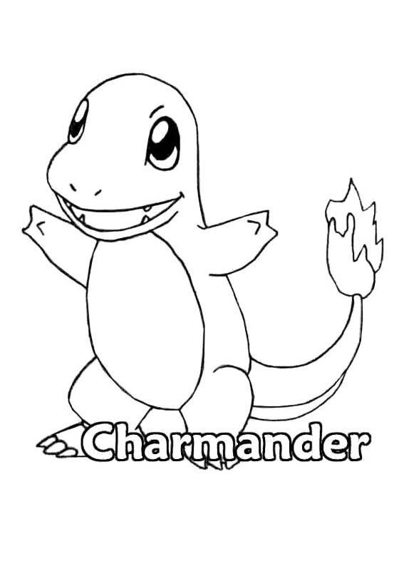Pokemon Charmander Coloring Page Printables Pinterest
