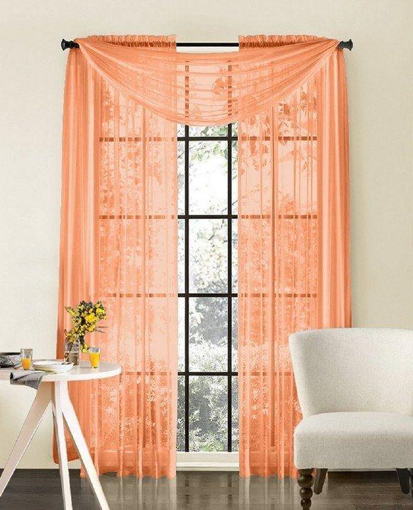 25 Best Ideas About Peach Curtains On Pinterest Girl Nursery