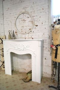 Painted Cottage Chic Shabby FIreplace Mantel