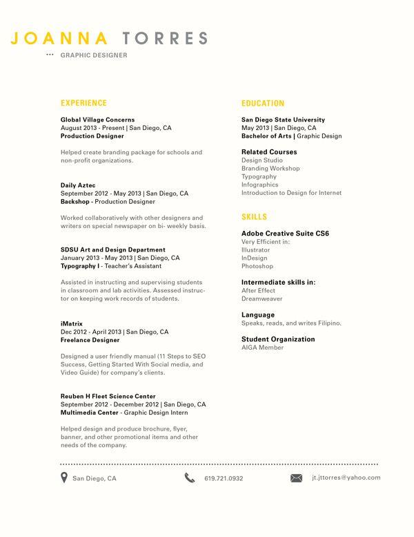 styles of resume job