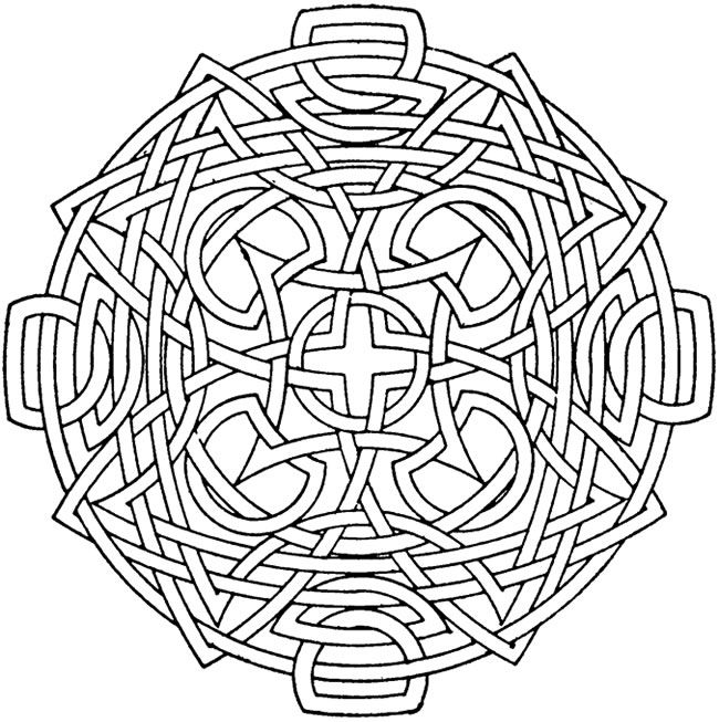 Circular Mandala Kids Coloring Pages with Free Colouring