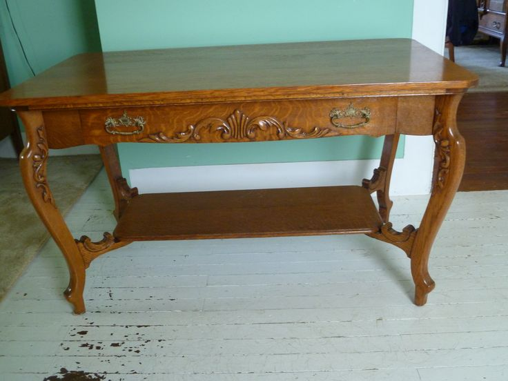 Oak Library Table c 1920 Historical family furniture up
