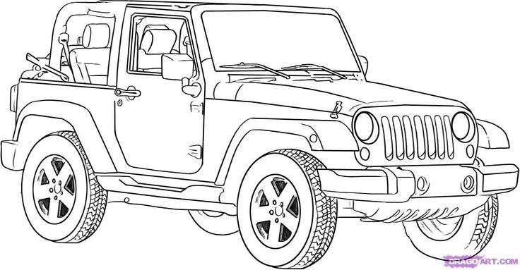 How to Draw a Jeep Wrangler http://www.dragoart.com/tuts