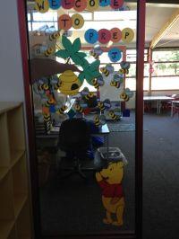 Winnie the Pooh themed welcome door. | Classroom Displays ...