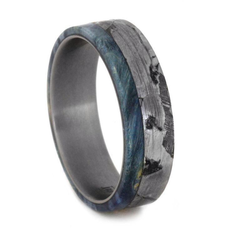 25 best ideas about Meteorite Ring on Pinterest  Meteorite wedding band Men wedding rings and