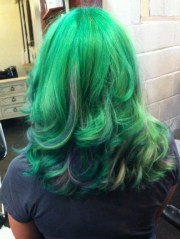green hair purple pravana