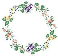 Fruit and Flower Circle Wall Stencil | Stencil-Tudo de ...