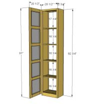 Garden Tool Storage Cabinet Plans - WoodWorking Projects ...