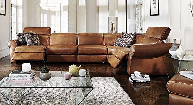 The supremely comfortable Italian leather Salerno