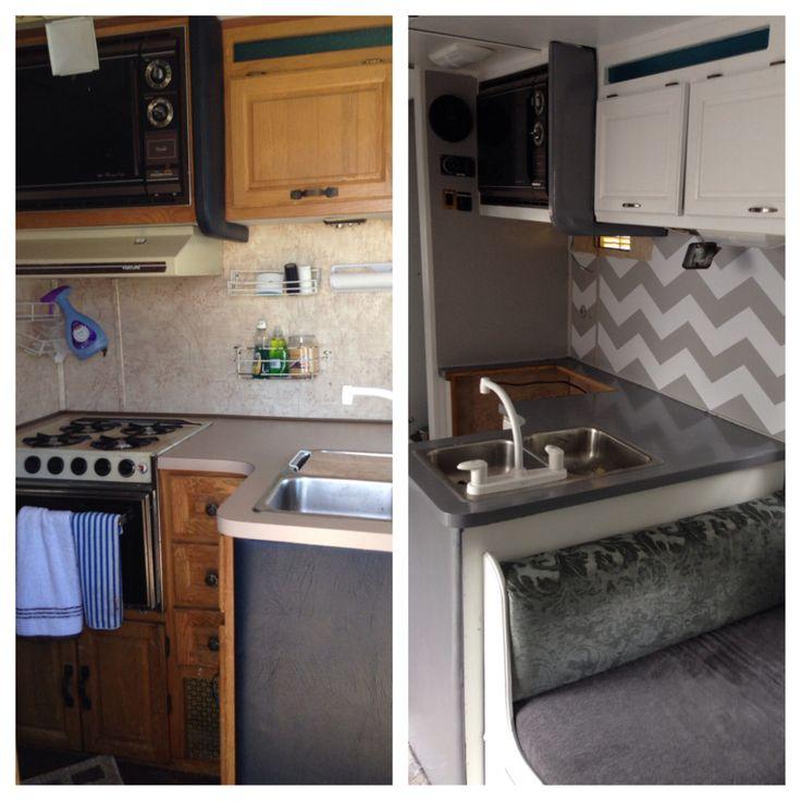 Motorhome remodel Glamper Before and after  Camper