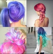 purple pink blue turquoise hair