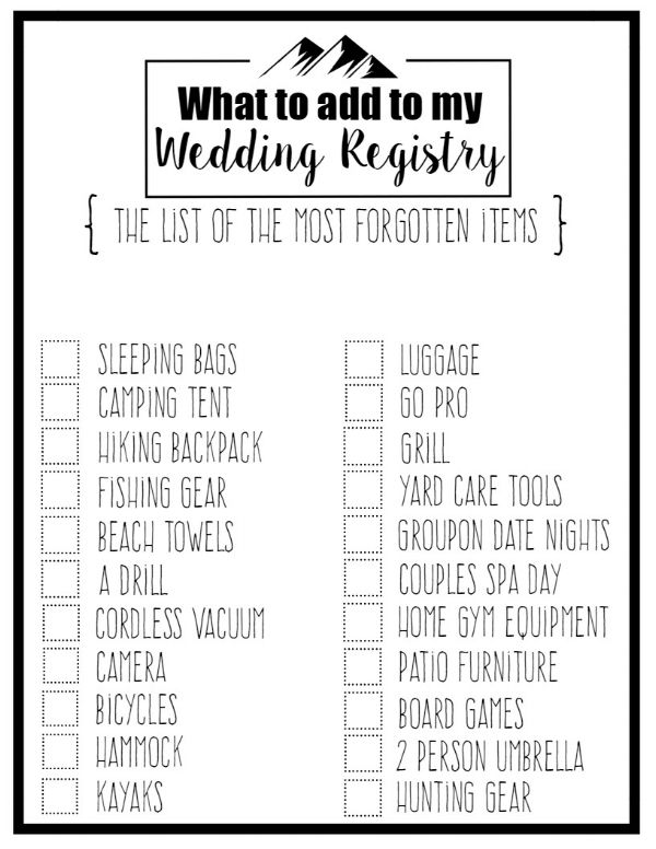25+ best ideas about Wedding registry checklist on