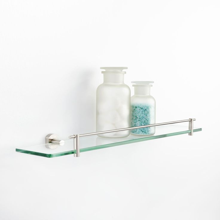 17 Best ideas about Glass Shelves For Bathroom on
