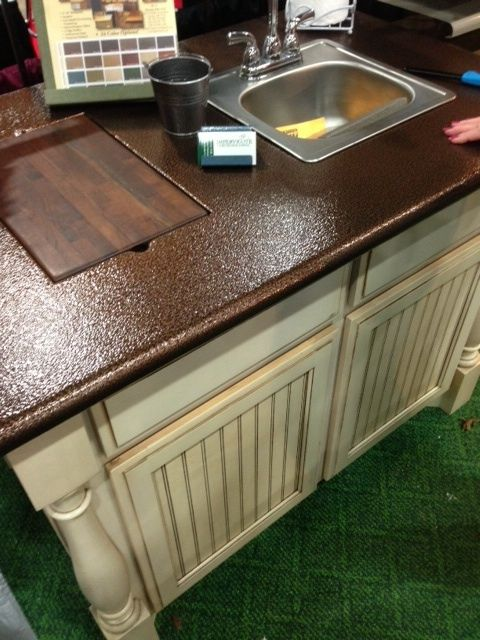 Spray paint Copper metal to your laminate countertops  kitchen ideas  Pinterest  Copper