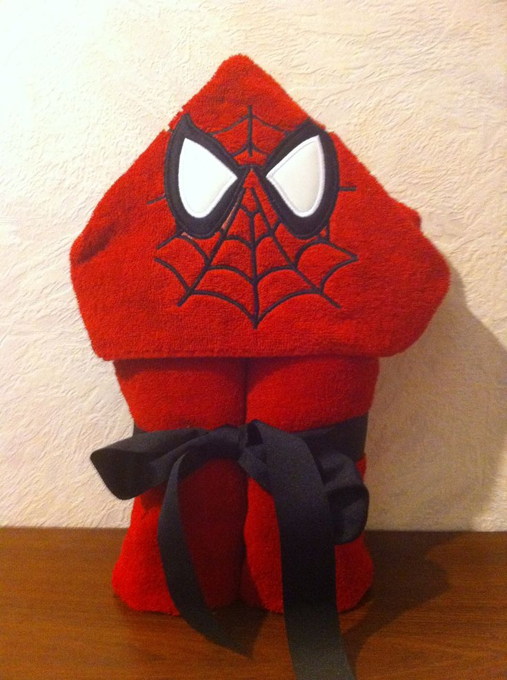 superhero hooded towel