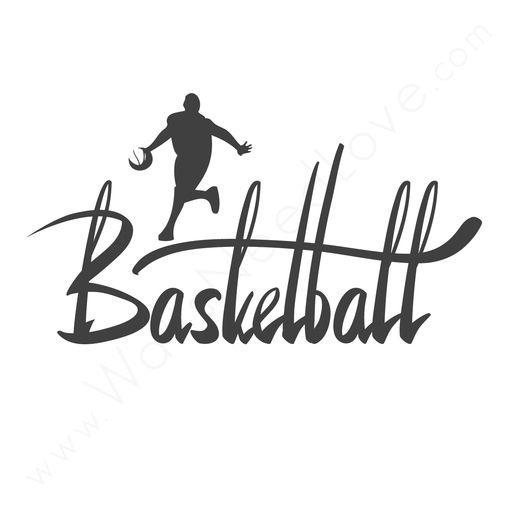 Basketball Calligraphy Decal Great Christmas present