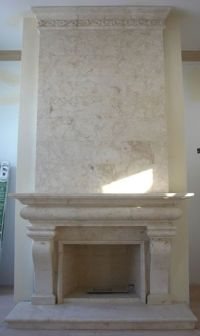 Limestone Tile Fireplace Surround | www.imgkid.com - The ...