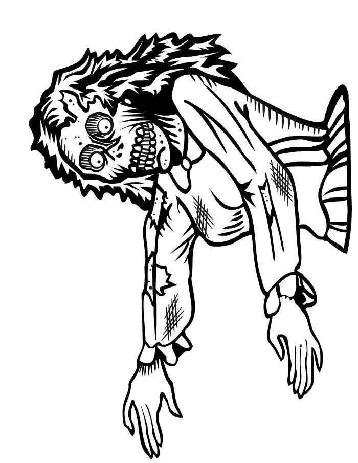 82 best images about Zombie coloring on Pinterest