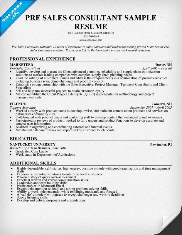 sales consultant resume cover letter