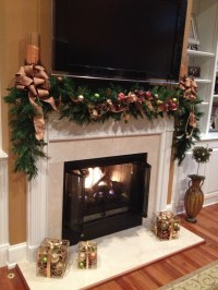 Fireplace mantel | Christmas | Pinterest | Fireplace ...