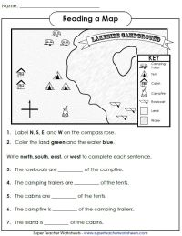 Printable Map Skills Worksheets Middle School - world ...