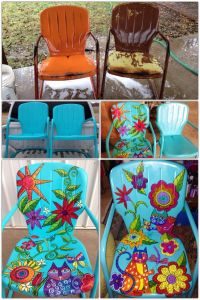 25+ best ideas about Painting metal chairs on Pinterest ...