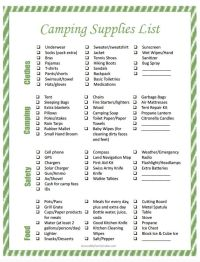 Best 20+ Camping Supply List ideas on Pinterest