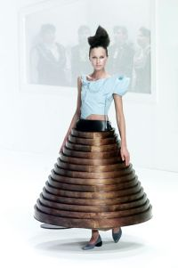 """Hussein Chalayan; Table dress, Collection """"After Words ..."""