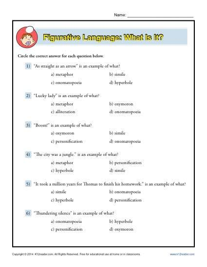 Figurative Language What Is It?