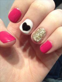 Super easy nail art for short nails! So cute!   Nails ...
