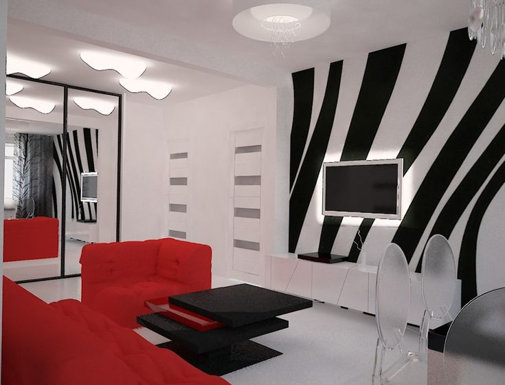 The Interior In The Style Of Pop Art Home Interior Design