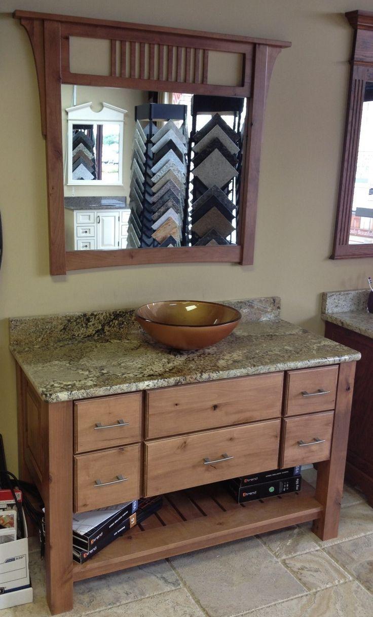 kitchen cabinets knotty alder trash compactor bathroom vanity | for the home pinterest ...