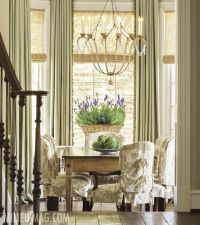 Dramatic window treatments -- woven wood shades and full ...